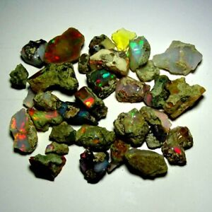 100.00 Cts. 100% Natural Ethiopian Fire Welo Opal Play Of Color Rough  Lot