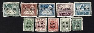 Poland 1920 10 stamps Mi#1-10 East Silesia MH/MNG