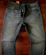 Levis 501 Straight Leg Jeans Men Size 33 X 34 Button Fly Classic Distressed Gray
