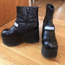 Vintage 90's N.Y.L.A Platform Grunge Boots Sz 7