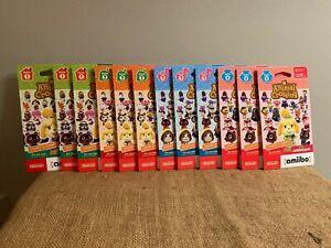 Nintendo Animal Crossing Amiibo Cards Series 1-4 1 2 3 4 Lot 3x of Each Series!
