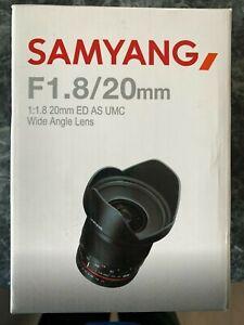 Samyang 20mm f1.8 manual lens for Sony E Mount