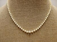 "Appraisal & Genuine Cultured Pearl 18"" Graduated Necklace 14K Gold Clasp $995.00"