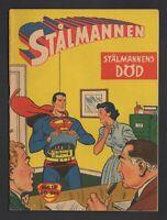 Superman - Stålmannen - DC Comics - 1957 Vintage Swedish Comic #Nr 18