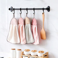 4x Double Side Hand Towel Hanging Kitchen Bathroom Dish CleanDrying Was OJM