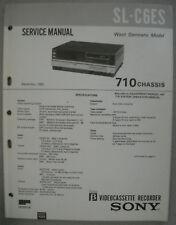 Sony sl-c6es Service Manual incl. de algunos información de servicio