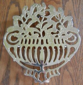 Floral Trivet Silverplate Italy Signed Piero Maestri  Hanging Decor