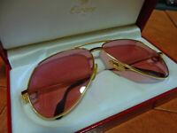 Must De Cartier Sunglasses Laqué Bordeaux Gold LB 62 - 14 in excellent condition