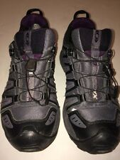 SALOMON XA COMP 6 GREY MESH GORE-TEX WOMANS ORTHOLITE SIZE 8 M