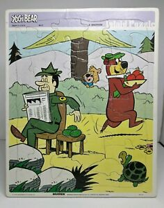 Vintage 1978 Hanna-Barbera Yogi Bear Inlaid Puzzle No. 122 Made in USA