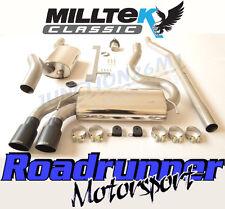 Milltek MCXAU106 AUDI COUPE UR QUATTRO 20 V Turbo Système D'échappement Resonated Noir