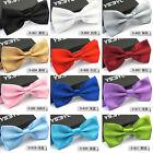 1Pcs Mens Unisex Tuxedo Bowtie Solid Color Neckwear Adjustable Bow Tie Pre-Tied