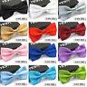 Classic Solid Color Men's Adjustable Pre Tied Formal Bow Tie Tuxedo Bowtie