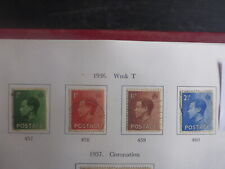 GREAT BRITAIN 1936 EDWARD VIII SET 4 USED STAMPS