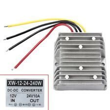 New Waterproof 12V to 24V DC-DC Step Up Power Supply Converter 10A 240W