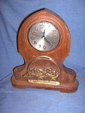 #427 - RARE VINTAGE / ANTIQUE SESSIONS RACE HORSE MANTEL CLOCK