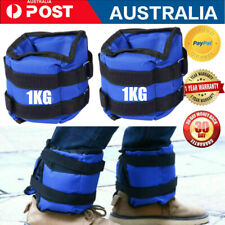 Pair 1kg Adjustable Ankle Wrist Weights Set Training Strap Workout Fitness Belt