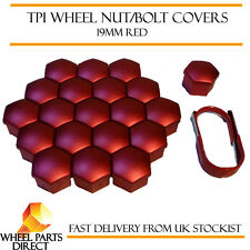 TPI Red Wheel Bolt Nut Covers 19mm Nut for Peugeot 205 83-98