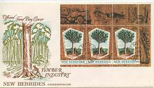 FIRST DAY COVER 1° JOUR / NEW HEBRIDES CONDOMINIUM / TIMBER INDUSTRY / INDUSTRIE