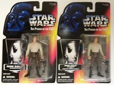 STAR WARS RED CARD LOT OF 2 - 1995 POTF HAN SOLO IN CARBONITE FREEZE CHAMBER MOC