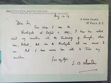 Donald O. Soper Autograph Letter Signed - 1941