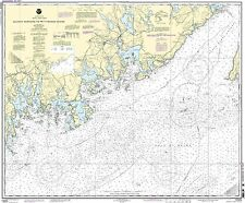 NOAA Chart Quoddy Narrows to Petit Manan lsland 16th Edition 13325