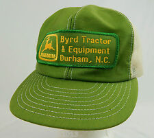 True VIntage JOHN DEERE Durham Byrd Tractor & Equipment Trucker Snapback Hat