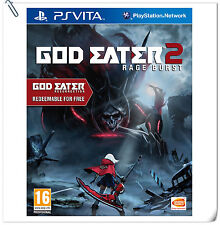 PSV God Eater 2 Rage Burst + Resurrection SONY VITA Action Games BANDAI NAMCO