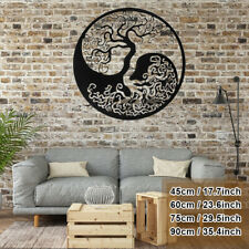 4 Sizes Tree of Life Metal Hanging Wall Art Decor Round Hanging Sculpture Home