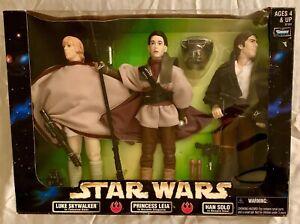 "Rare Star Wars 12"", 3-pack Luke Skywalker, Princess Leia Boushh, Han Solo Bespin"