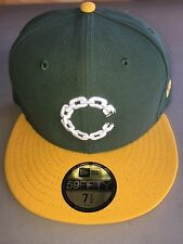 """New Era Crooks and Castles Chain """"C"""" Fitted Hat SZ 7 1/2 GREEN / YELLOW"""
