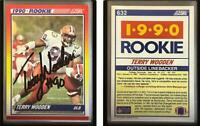 Terry Wooden Signed 1990 Score #632 RC Card Seattle Seahawks Auto Autograph