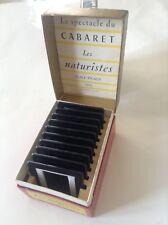 Rare Lot de 10 diapositives Cabaret naturistes Pigalle sous boite