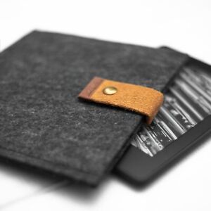 New Black Marl Soft Felt Sleeve Cover For Kindle Paperwhite Voyage Touch Oasis