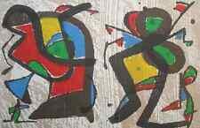 Joan Miro Engravings I Kunst Grafik Bild Holzschnitt mit Mittelfalz 2 Beilagen