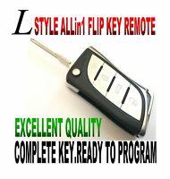 L-KEY STYLE FLIP KEY REMOTE FOR CHEVY CAPTIVA SPORT CHIP KEYLESS ENTRY FOB EAR