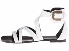 NIB $295 Sigerson Morrison Cadee Sandals White Leather (US 7.5)