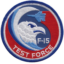USAF F-15 Eagle McDonnell Douglas Test Force Embroidered Patch ** LAST FEW **