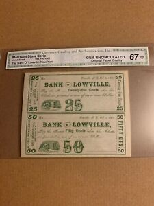 Uncut Sheet The Bank Of Lowville, New York