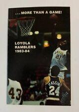 1983 1984 Loyola Ramblers Chicago NCAA Basketball Schedule Alfredrick Hughes