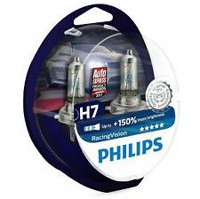 PHILIPS H7 RacingVision bis zu 150% mehr Licht Halogen Lampe 12972RVS2 Duo Birne