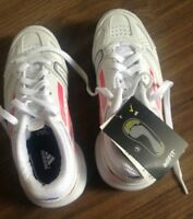 NEW ADIDAS SIZE 12 UK WHITE LIGHT TRAINERS WHITE KIDS TRAINERS  AUTH
