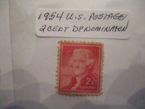 1954 U.S. Postage Stamps - 2 Cent  Denomination