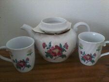 Vintage Laura Ashley Parfums Teapot and 2 Cup Set No. 1-Nib