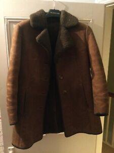 Sheepskin ladies coat, approx size 10/12