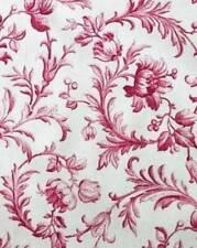 Unused Laura Ashley Ironwork Scroll Cranberry cotton fabric. 137 cms x 1m