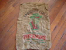 Vintage Farmers Finest Red River Valley Potato Burlap Bag Sack 100LB Feed Seed