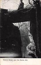 Arkansas AR Postcard 1910 VAN BUREN Natural Bridge Geology Man