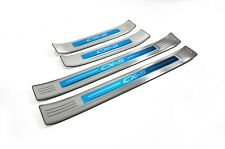 S/S Door Sill Panel Scuff Plate Kick Step Protector for Mazda CX-5 17-19 KF Blue