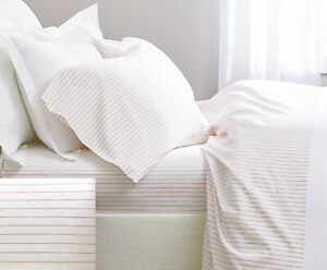 400TC Egyptian Cotton SHEET SET Custom Extra Deep Pocket Percale Dune Stripe